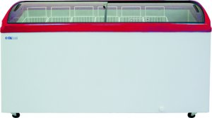 Ларь морозильный ITALFROST CF 600C красный