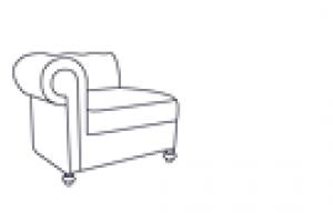 Кресло Честер Люкс с правым (левым) локотником