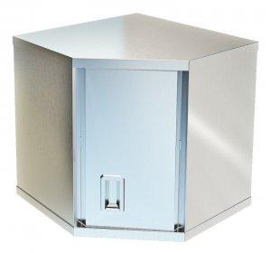 Полка-шкаф настенная закрытая угловая ТЕХНО-ТТ ПН-424/606У с дверкой