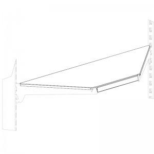 Полка угловая внутренняя 470 мм