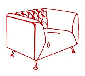 Кресло 1000х800х750 мм