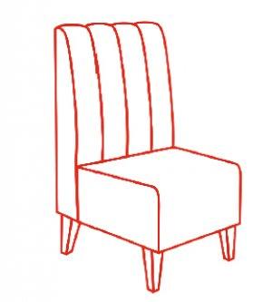Кресло 600х650х1100 мм
