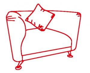 Кресло 930х780х750 мм