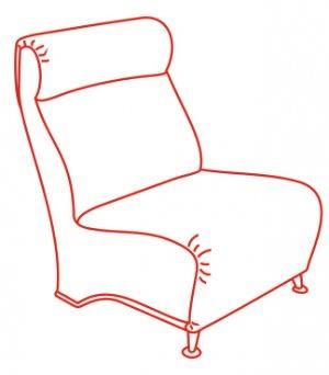 Кресло 800х750х970 мм