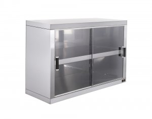 Полка-шкаф настенная Luxstahl ПНШЗ-900 закрытая с прозрачными дверьми-купе