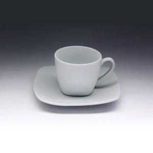 Кофейная пара с квадратным блюдцем Collage 80 мл