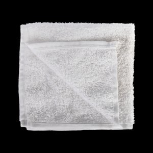 Салфетка махровая белая Ошибори хлопок 300х300 мм