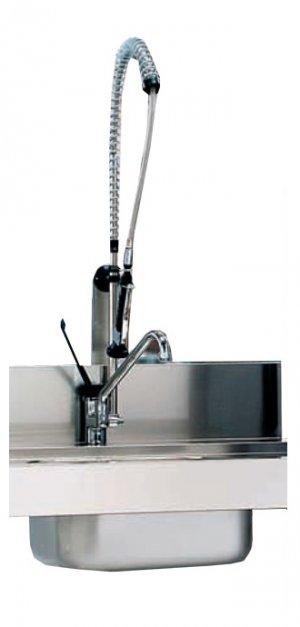 Стол предмойки MACH TEVS/150SX с мойкой и отверстием для сбора отходов (левый) для MACH MST/015