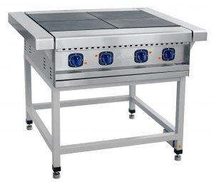 Плита электрическая ABAT ЭП-4П четырехконфорочная без жарочного шкафа (лицевая нерж, серия 900)