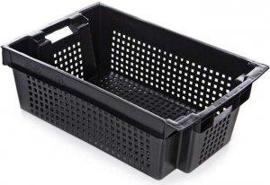 Ящик 600х400х200 мм перфорированный, для овощей и фруктов, ПЭНД [2Д]