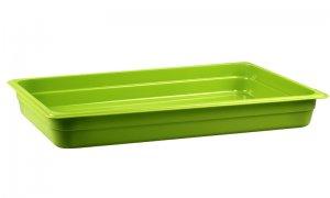 Гастроемкость из полипропилена без крышки GN 1/1 530х325x65 мм зеленая [422107309]