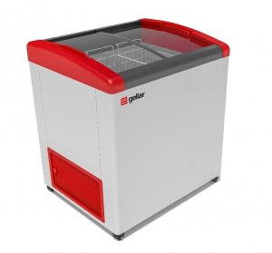 Ларь морозильный GELLAR FG 275 E красный