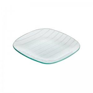 Тарелка квадратная с округлыми краями Corone Aqua 200 мм