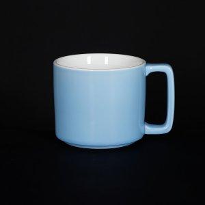 Кружка Corone Caffetteria 360 мл голубой