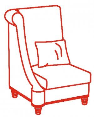 Кресло с одним подлокотником L/R