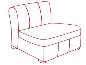 Кресло без локотников 600х900х700 мм