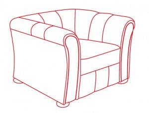 Кресло 1000х900х700 мм