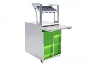 Прилавок для приборов и подносов Luxstahl ПП (С)-600 Premium