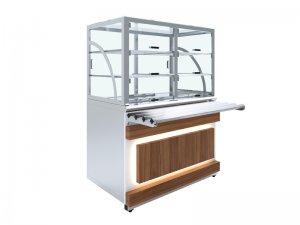Прилавок холодильный Luxstahl ПХВ (С)- 1200 с ванной охлаждаемой Premium