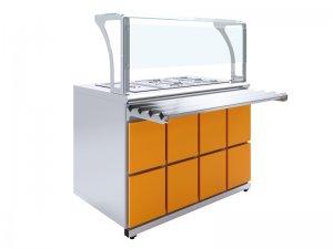 Салат-бар 3-ёмкостный GN 1/1 Luxstahl СБ-1200 Premium
