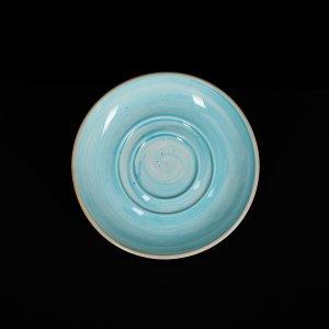 Блюдце 114 мм голубое Corone Natura
