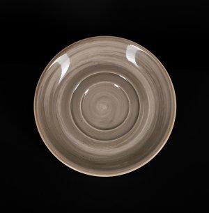 Блюдце 150 мм серо-коричневое Corone Natura