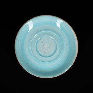 Блюдце 150 мм голубое Corone Natura