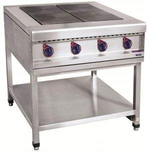 Плита электрическая ABAT ЭПК-48П четырехконфорочная без жарочного шкафа (полностью нерж, серия 900)
